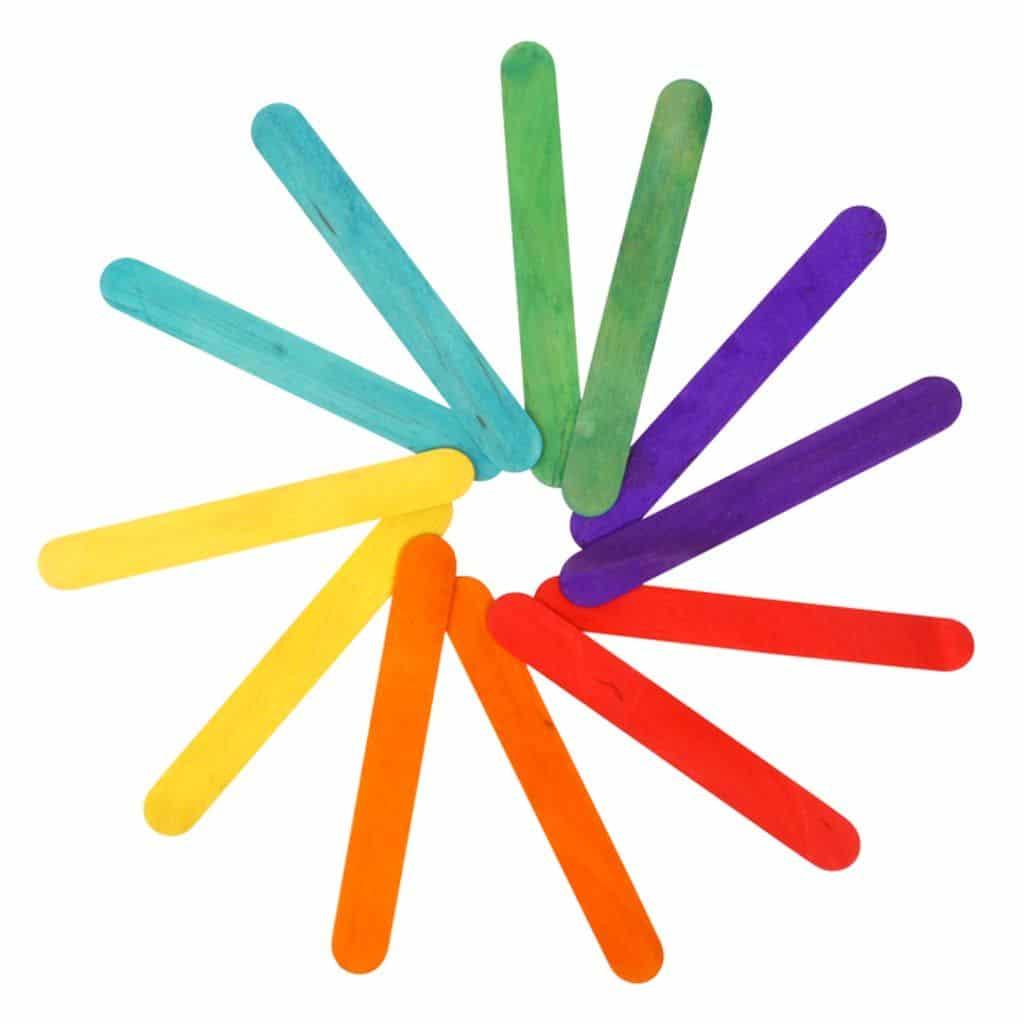 5aaeab742e Ξυλάκια Χειροτεχνίας (Παγωτού) iMONDI Jumbo Χρωματιστά 10520001 15cm ...