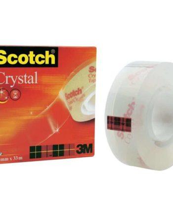 diafani kristalliki tainia scotch crystal tape19mmx33m tetragono