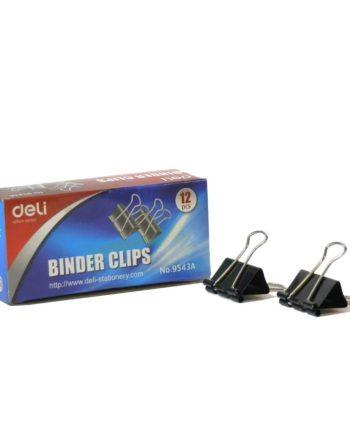 piastra binder clips mauri deli 32mm 1tem tetragono