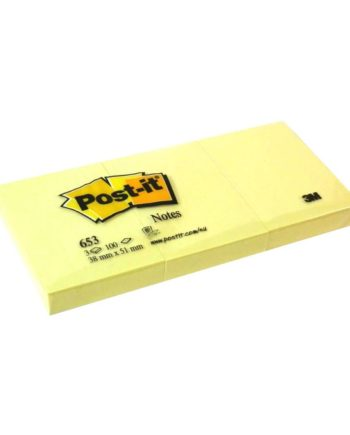 post it autokollita xartakia 38x51mm 3x100 sheets 653 tetragono