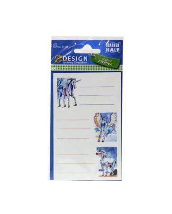 sxolikes etiketes z design unicorns tetragono