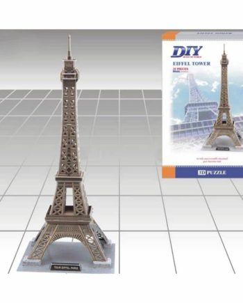 3d puzzle build my world eiffel tower tetragono