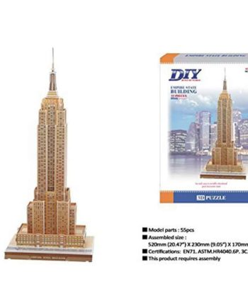 3d puzzle build my world empire state building tetragono