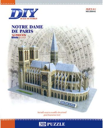 3d puzzle build my world notre dame de paris tetragono