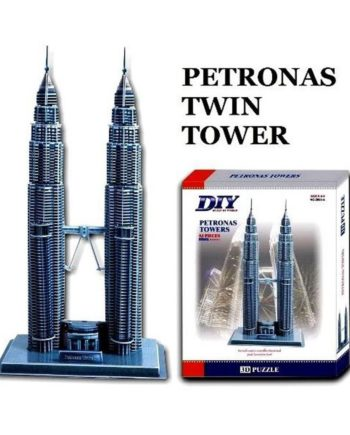 3d puzzle build my world petronas towers tetragono