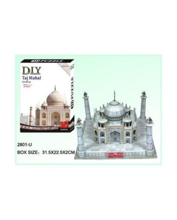 3d puzzle build my world taj mahal tetragono