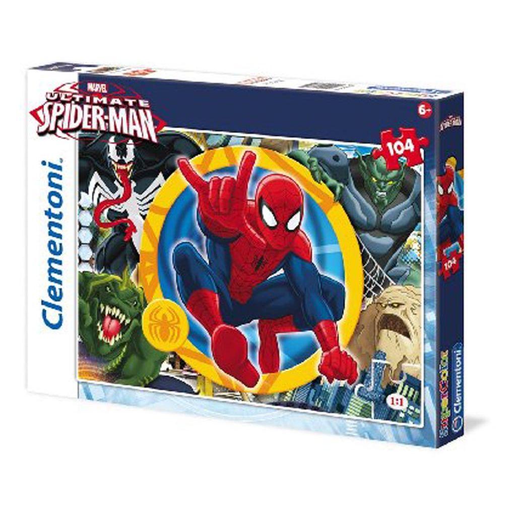 puzzle marvel spiderman clementoni tetragono