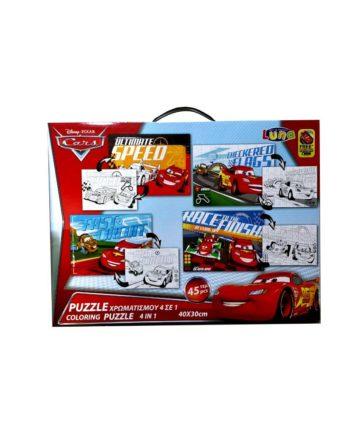 puzzle xromatisto disney cars tetragono