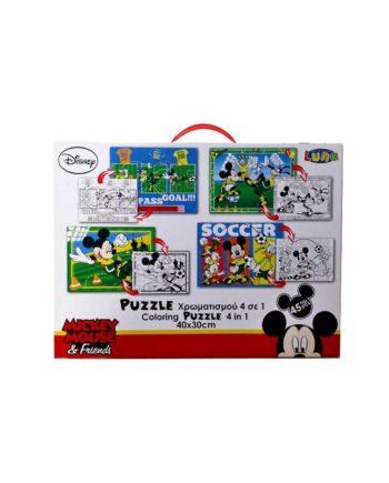 puzzle xromatisto disney mickey tetragono