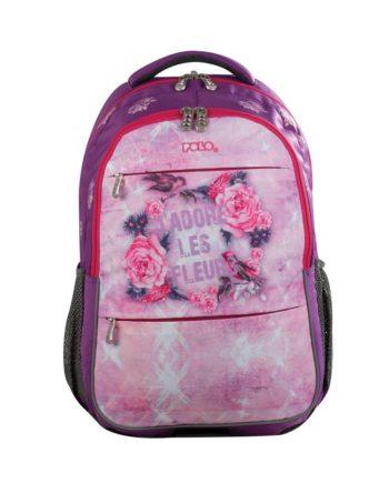36643469693 Σχολική Τσάντα POLO Street «Les Fleurs» 9-01-222-13
