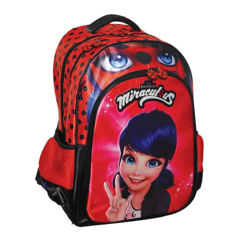 6569546115 Τσάντα Δημοτικού Ladybug- Βιβλιοπωλείο Τετράγωνο