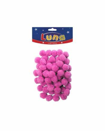 pom pom luna 15mm roz tetragono