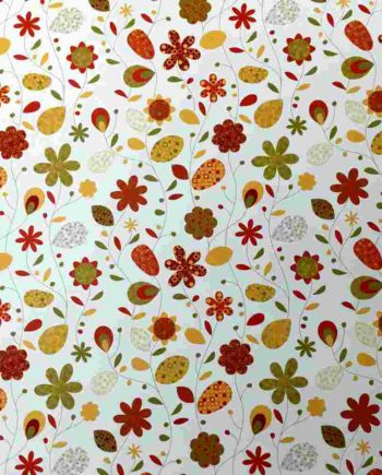 xartoni 50 70 country flowers orange tetragono