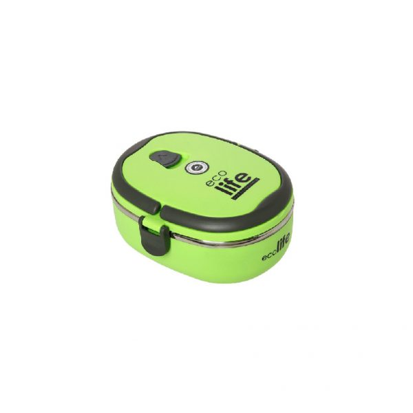 lunch box ecolife oval prasino tetragono 1