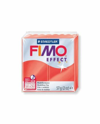 phlos fimo effect translucent red 204 tetragono