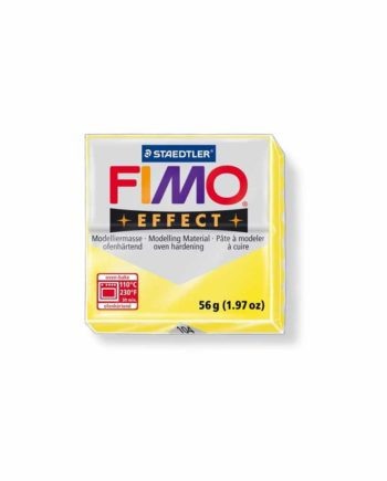 phlos fimo effect translucent yellow 104 tetragono