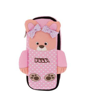 kasetina polo animal junior pink bear 9 37 011 74 tetragono 1