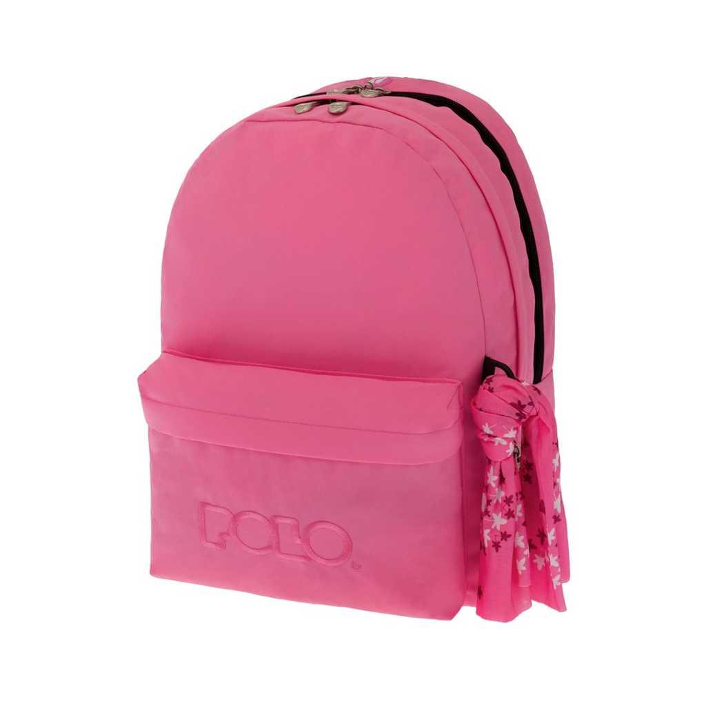 e01688aeac0 Τσάντα POLO Double Scarf Ανοιχτό Ροζ 9-01-235-16- Βιβλιοπωλείο Τετράγωνο