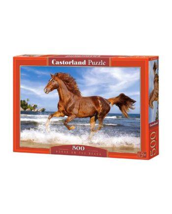puzzle castorland 51175 2 horse on the beach tetragono 1