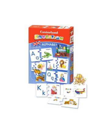 puzzle castorland education alphabet english tetragono 1