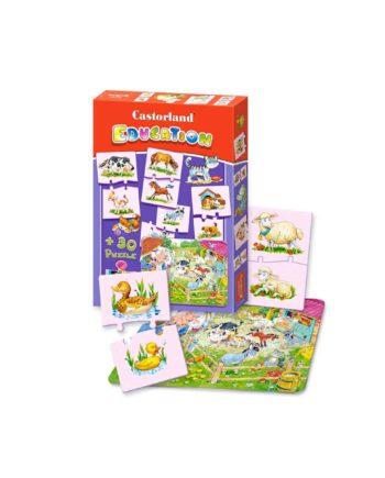 puzzle castorland education animals tetragono 1