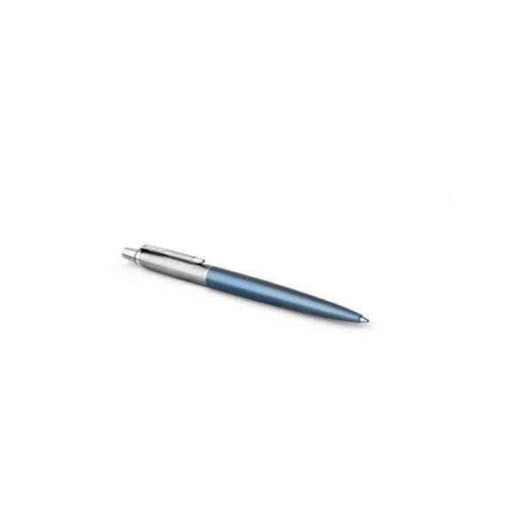 parker waterloo blue stainless steel jotter ballpoint 2 tetragono 1