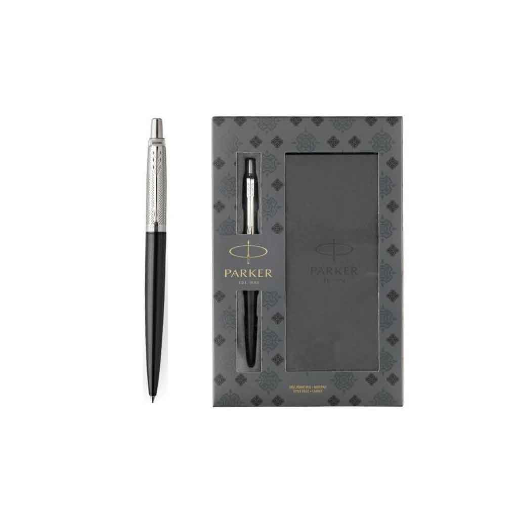 set parker tower grey diagonal jotter ballpoint notepad 1171.1113.02 tetragono 1