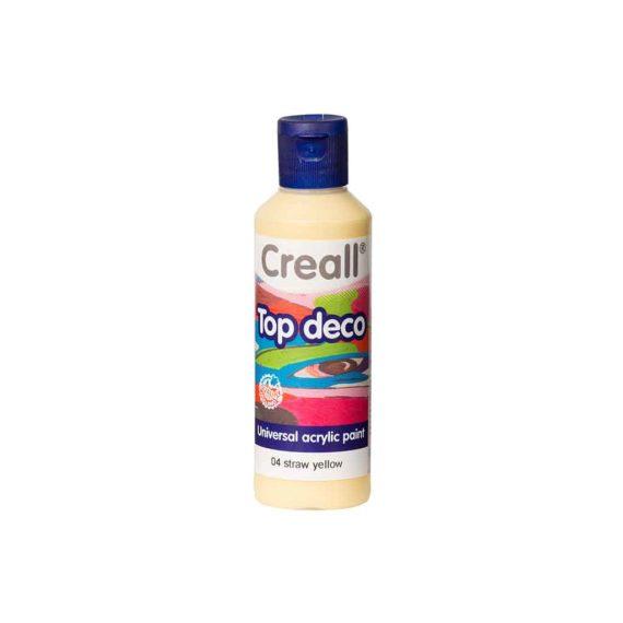 acrylic paint creall top deco 04 straw yellow 80ml tetragono 1