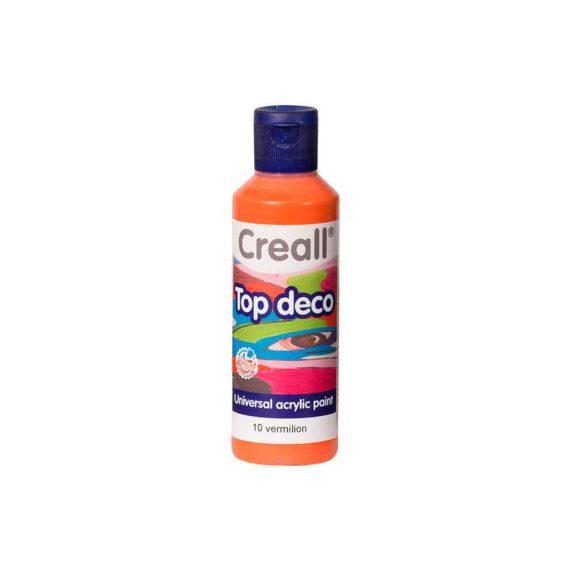acrylic paint creall top deco 10 vermilion 80ml tetragono 1