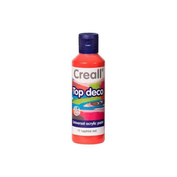 acrylic paint creall top deco 11 napthol red 80ml tetragono 1