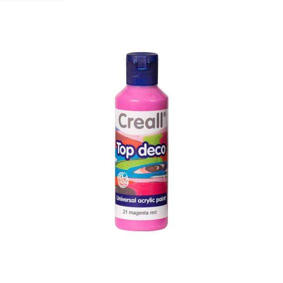 acrylic paint creall top deco 21 magenta red 80ml tetragono 1