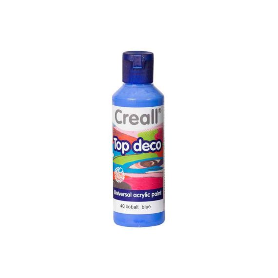acrylic paint creall top deco 40 cobalt blue 80ml tetragono 1