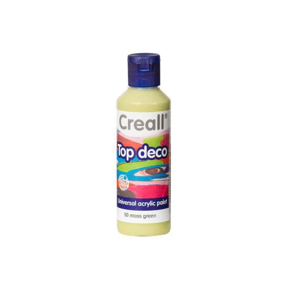 acrylic paint creall top deco 50 moss green 80ml tetragono 1