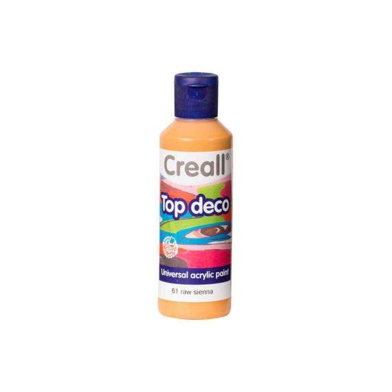 acrylic paint creall top deco 61 raw sienna 80ml tetragono 1