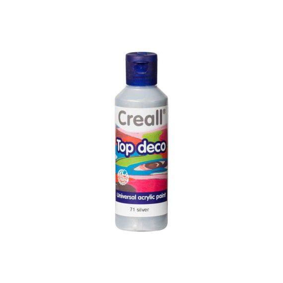 acrylic paint creall top deco 71 silver 80ml tetragono 1