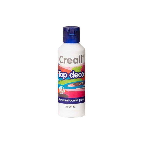 acrylic paint creall top deco 81 white 80ml tetragono 1