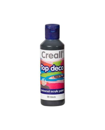acrylic paint creall top deco 99 black 80ml tetragono 1