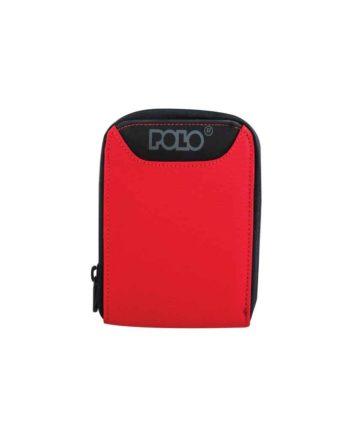 Πορτοφόλι POLO Wallet Zipper Κόκκινο 9-38-108-03