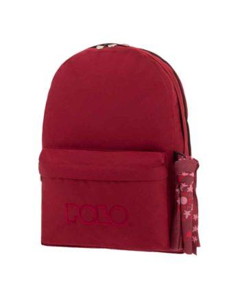Τσάντα POLO 2 θήκες Μπορντώ 9-01-235-30 2019