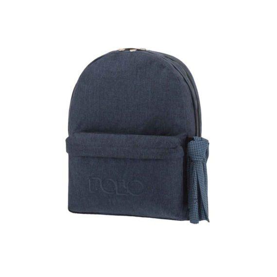 Τσάντα POLO 2 θήκες Jean Style Μπλε 9-01-235-82 2019