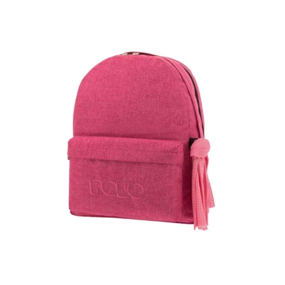 Τσάντα POLO 2 θήκες Jean Style Φούξια 9-01-235-84 2019