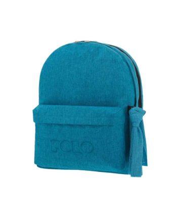 Τσάντα POLO 2 θήκες Jean Style Πετρόλ 9-01-235-83 2019