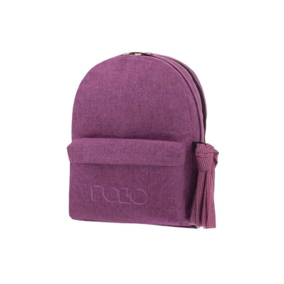 Τσάντα POLO 2 θήκες Jean Style Μωβ 9-01-235-85 2019
