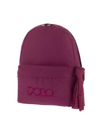 Τσάντα POLO Knit Style Μωβ 9-01-235-74 2019