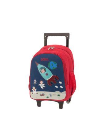 Τσάντα Τρόλεϊ Νηπιαγωγείου POLO New Animal Space 9-01-008-60