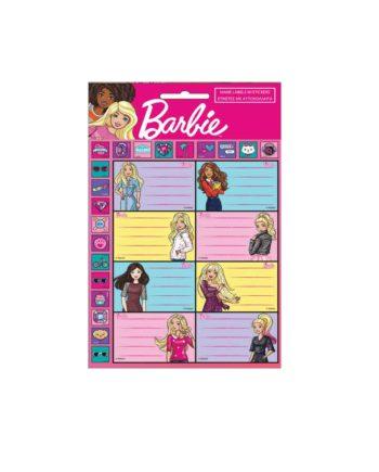 Σχολικές Ετικέτες GIM Barbie Glitter 779-10549