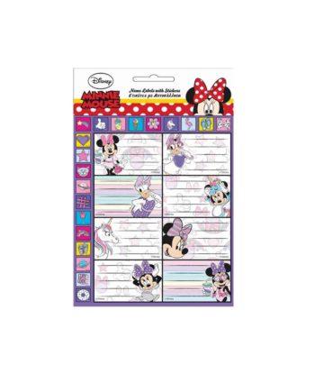 Σχολικές Ετικέτες GIM Minnie Glitter 773-13949