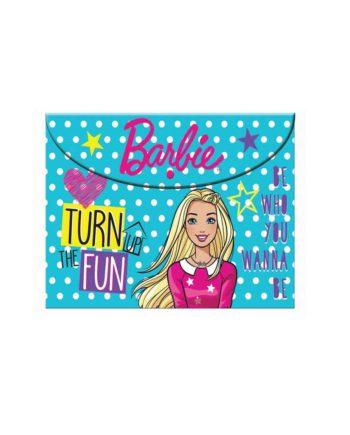 Φάκελος με Κουμπί Α4 GIM Barbie 349-63580