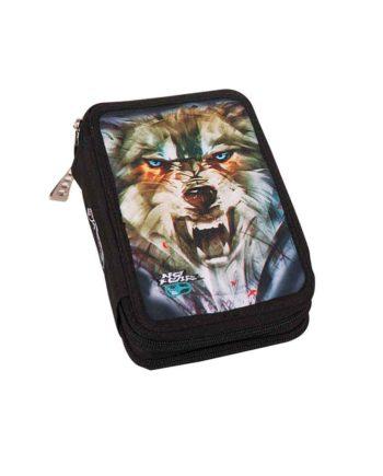 Κασετίνα Διπλή NO FEAR Army Wolf 347-51100