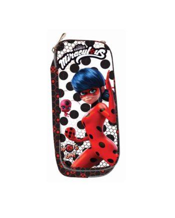 Κασετίνα Οβάλ GIM Ladybug Dots 346-02144